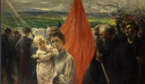 Tableau : Grève à Saint-Ouen en 1908, Paul-Louis Delance