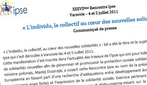 Bilan des 23èmes rencontres IPSE des 04 et 05 juillet 2011