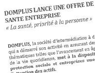 DOMPLUS lance une offre de service dédiée à la prévention santé en entreprise